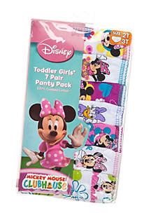 Handcraft 7-Pack Minnie Mouse Underwear Toddler Girls