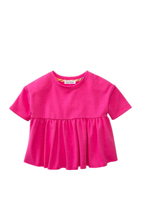 Flapdoodles Girls 4-6x Fashion French Terry Top