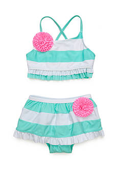 Flapdoodles Striped Skirted 2 Piece Girls 4-6X