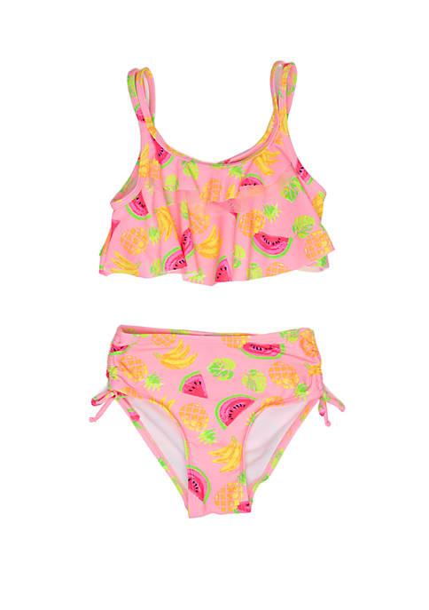 Girls 2-6x Fruit Print Bikini Swimsuit