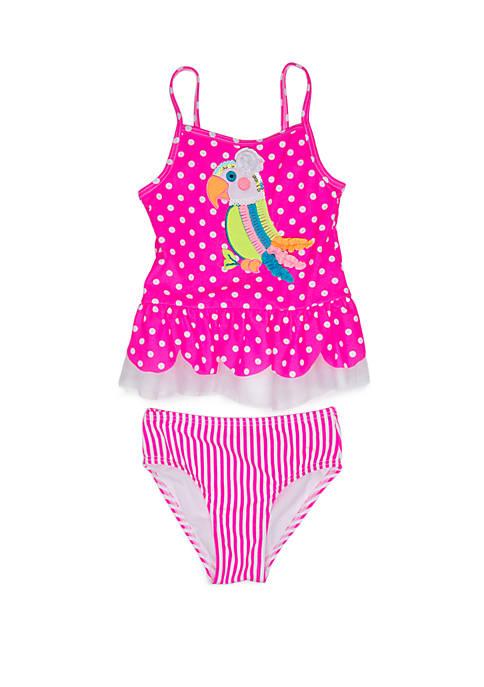 Girls 2-6x Parrot 2 Piece Swimsuit