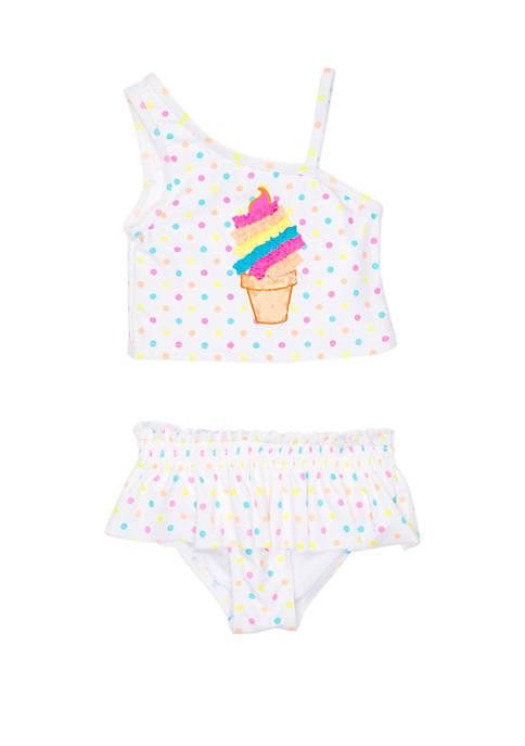 Girls 4-6x Ice Cream 2 Piece Swimsuit