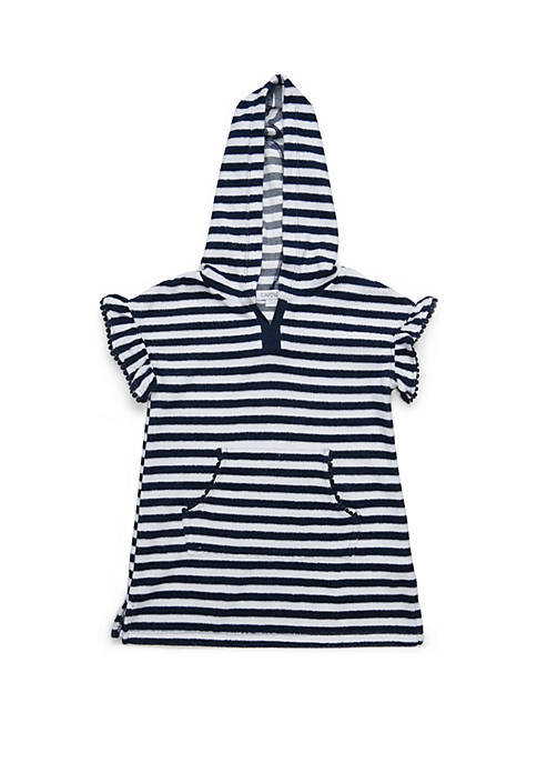 Flapdoodles Girls 2-6x French Terry Swim Cover Up