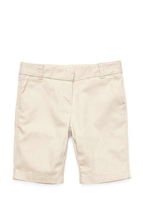 IZOD Uniform Skinny Bermuda Shorts Girls 4-6x