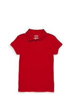 IZOD Short Sleeve Uniform Polo Girls Plus 7-16