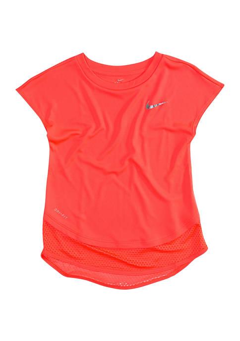 Nike® Girls 4-6x 2Fer Drift Modern Tunic Top