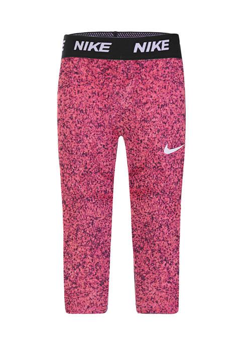 Nike® Girls 4-6x Gravel Hot Punch Capri Tights