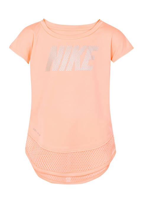Nike® Girls 4-6x 2Fer Modern Short Sleeve T-Shirt
