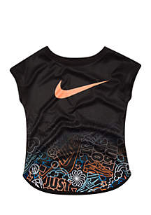 Girls 4 - 6x Dri-FIT Doodle Swoosh Short Sleeve T-Shirt