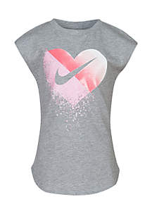 Girls 4-6x Glitter Heart T-Shirt