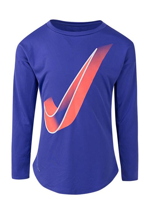 Girls 4-6x Dri-FIT Logo Graphic T-Shirt