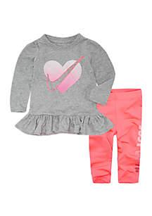 Nike® Girls 4-6x Swoosh Heart Crossover Set