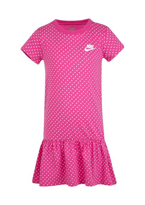 Girls 4-6x Dot Print Dress