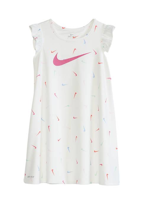 Girls 4-6x Allover Print Sport Dress