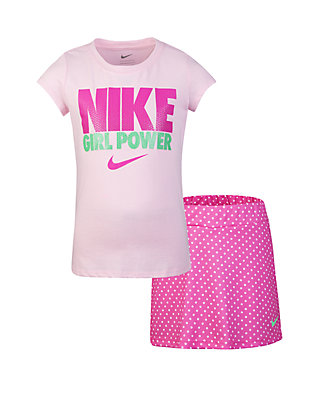 f0846b2d45a Nike® Girls 2-6x Tee and Scooter Skirt Set