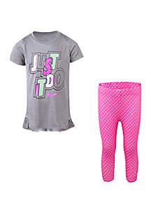 b44da53bcac ... Nike® Girls 2-6x Dri Fit Tunic and Capri Set