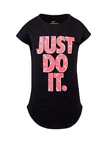 Nike® Girls 2-6x Swooshfetti Just Do It Short Sleeve T Shirt