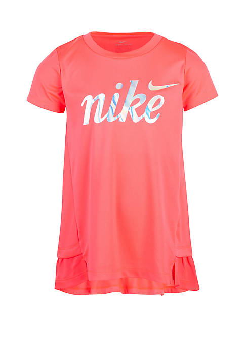 Nike® Girls 2-6x Dri FIT Short Sleeve Peplum