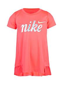 Nike® Girls 2-6x Dri FIT Short Sleeve Peplum Tunic