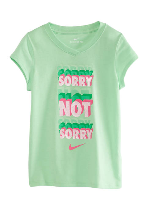Girls 4-6x Sorry Not Sorry Graphic V-Neck T-Shirt