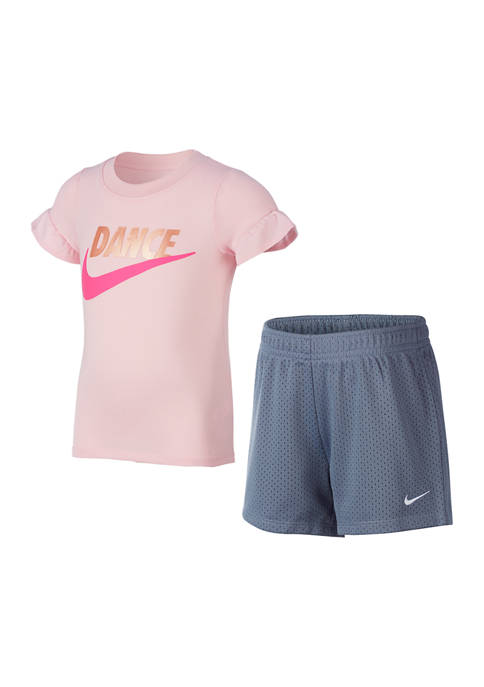 Nike® Girls 4-6x 2 Piece Dance Flutter Sleeve