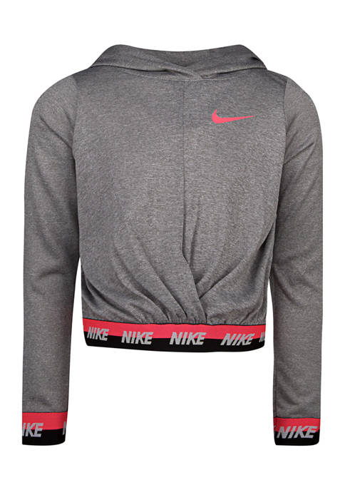 Nike® Girls 4-6x Cropped Multi-Trim Pullover