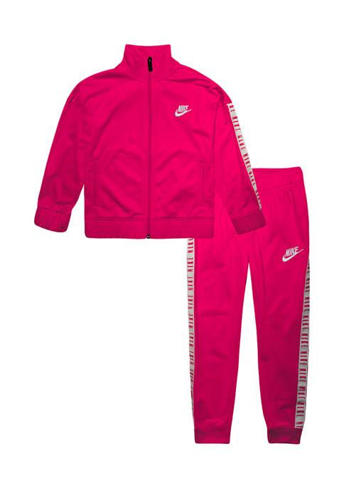 Nike® Girls 4-6x Logo Taping Tricot Track Set