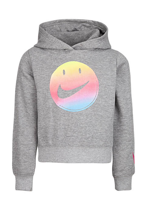 Girls 4-6x Smiley Cropped Pullover