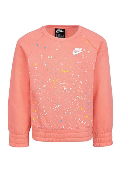 Girls 4-6x Allover Print Sweatshirt