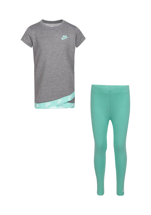 Nike® Girls 4-6x Futura T-Shirt and Leggings Set