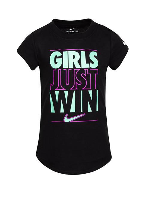 Nike® Girls 4-6x Just Win T-Shirt