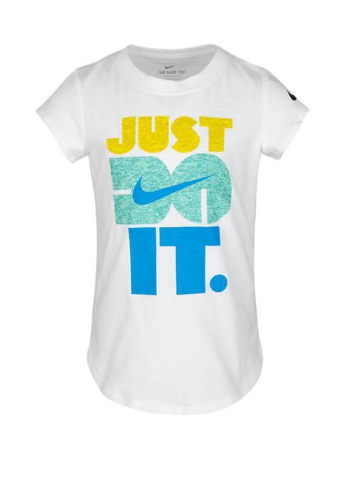 Nike® Girls 4-6x Short Sleeve Just Do It