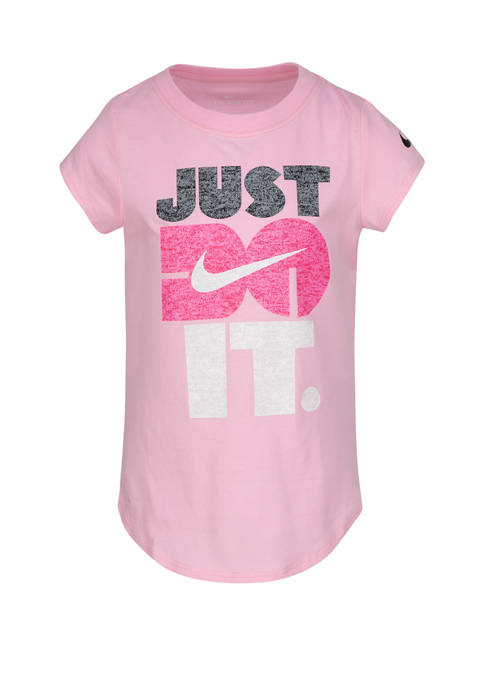 Girls 4-6x Short Sleeve Just Do It Graphic T-Shirt