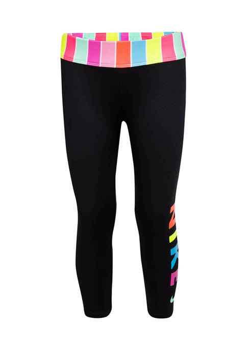 Nike® Girls 4-6x Stripe Ankle Cropped Leggings