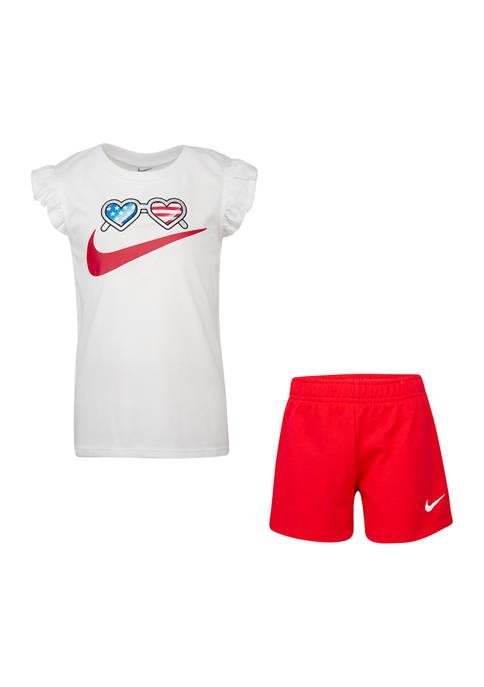Nike® Girls 4-6x 2 Piece Americana Set