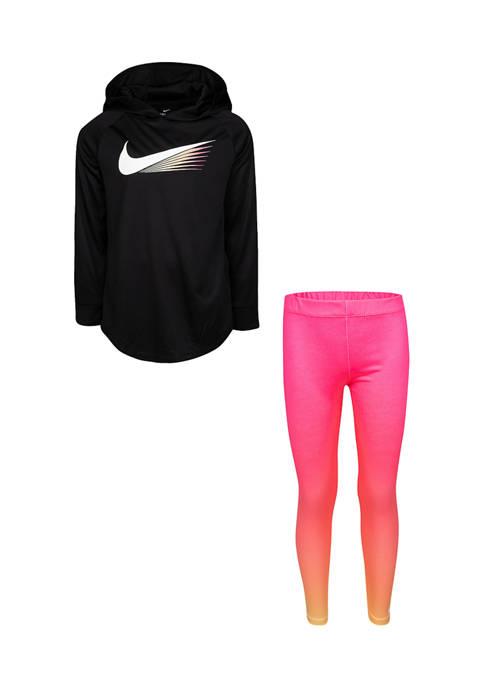 Nike® Girls 4-6x Long Sleeve Hoodie Set