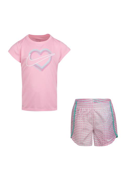 Nike® Girls 4-6x Pixel Pop Sprinter Shorts Set