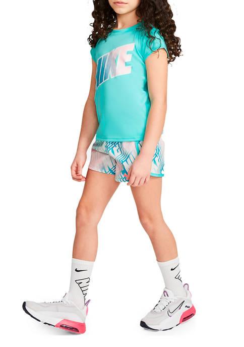 Nike® Girls 4-6x Laser Letters Shorts Set