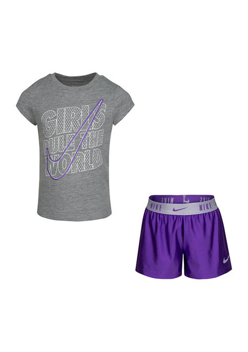 Girls 4-6x Perfect Girls Rule Graphic T-Shirt and Shorts Set