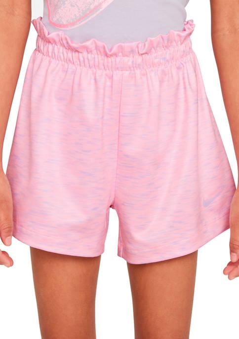 Nike® Girls 4-6x Space Dye Paper Bag Shorts