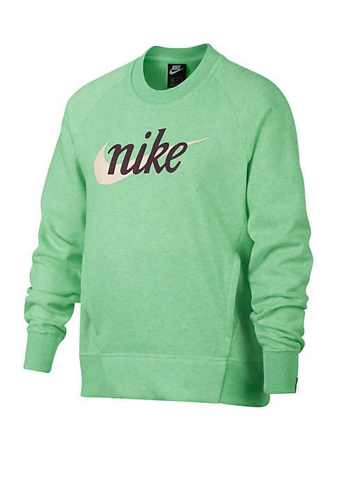 Girls 7-16 Graphic Crew Neck Sweatshirt