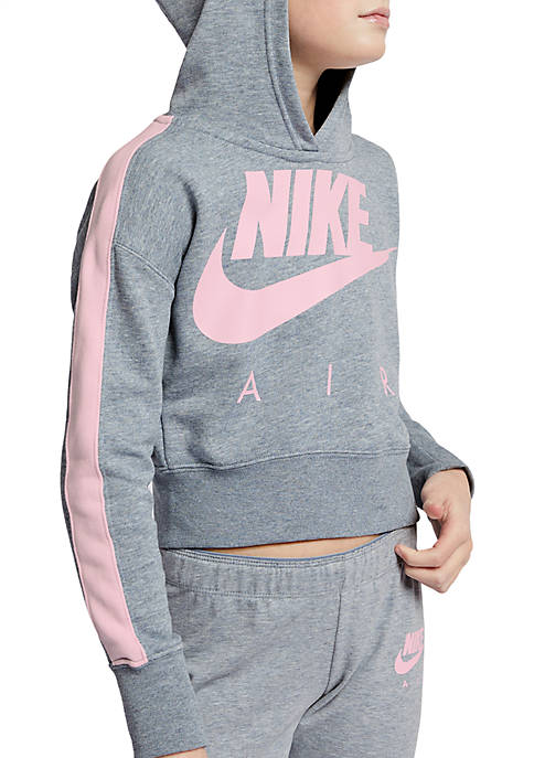 Nike® Girls 7-16 Cropped Fleece Hoodie