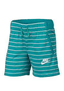 Nike® Girls 7-16 Stripe Shorts