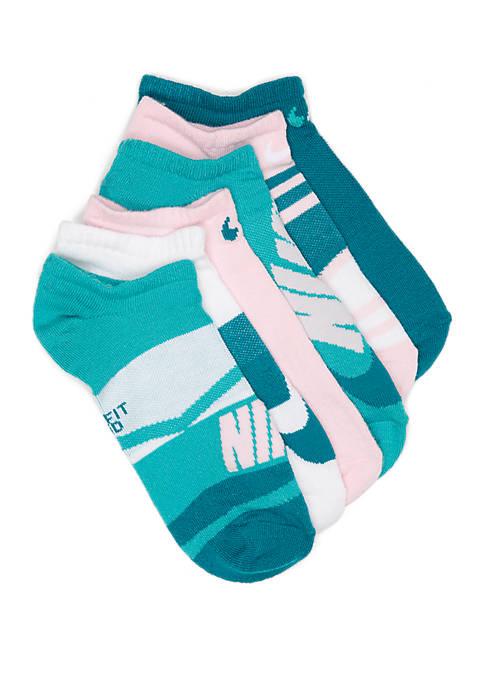 Nike® Girls 7-16 Lightweight Fashion No Show Socks