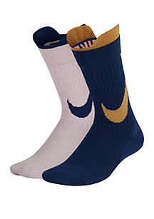 Nike® Girls 7-16 Swoosh Crew Socks