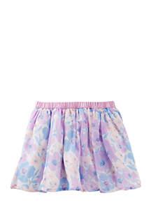 Girls 4-6x Floral Chiffon Skirt