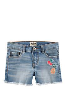 Girls 4-6x Stretch Denim Shorts