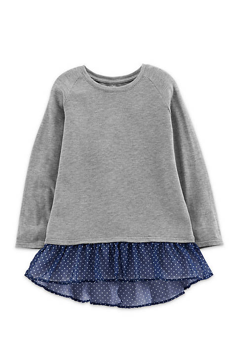 OshKosh B'gosh® Girls 2-6x Peplum Sweatshirt