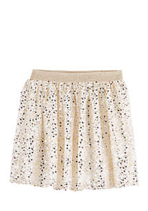 Girls 4-8 Gold Sequin Skirt