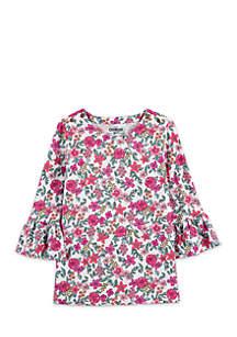 Toddler Girls Bell Sleeve Top